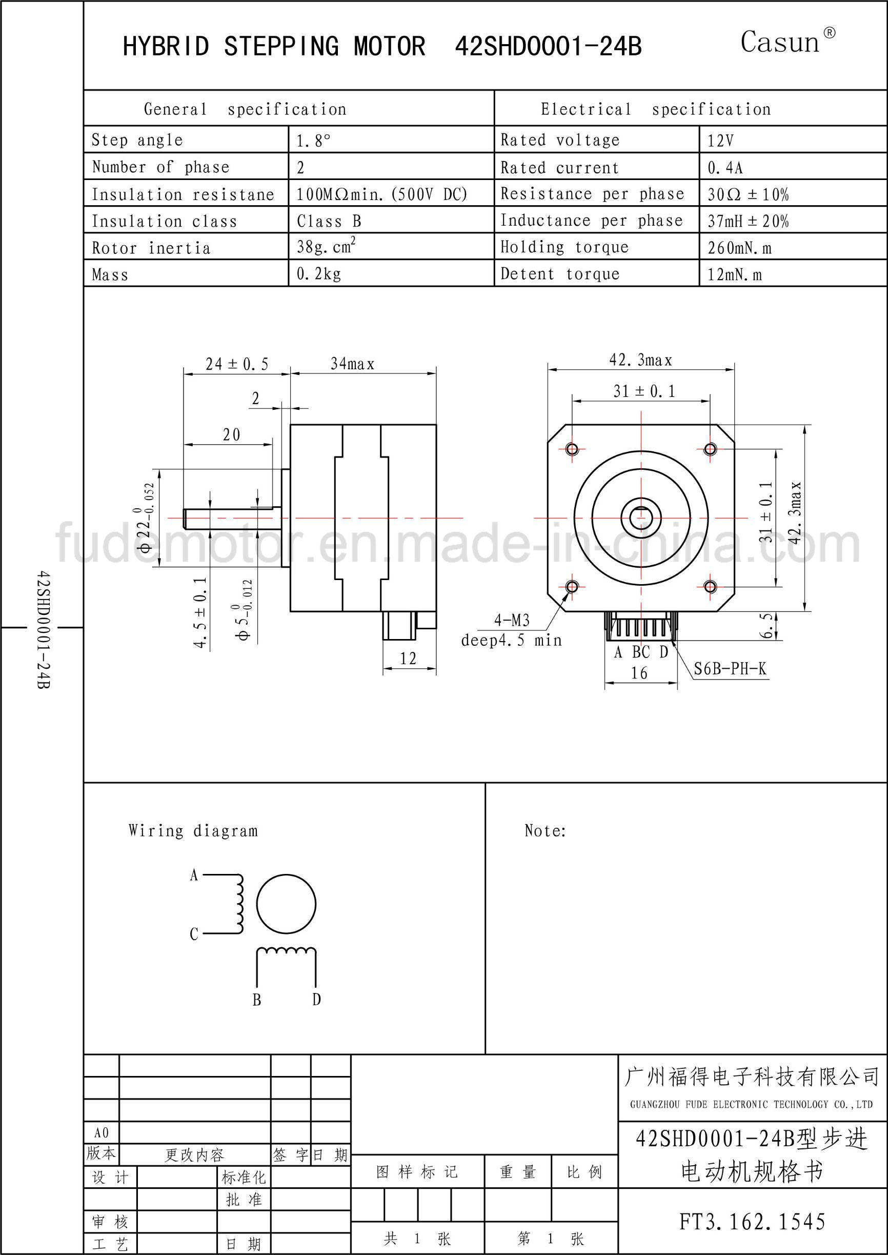 Two Phase Steppermotor Wiring Diagram